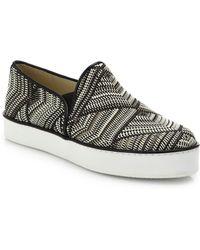 Stuart Weitzman Raffia Skate Shoes - Lyst