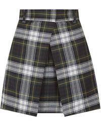 McQ by Alexander McQueen Tartan Mini Skirt - Lyst