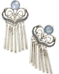 John Hardy Classic Chain Drop Earrings In Silver Lyst