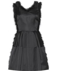 Simone Rocha Feather-Trimmed Dress - Lyst