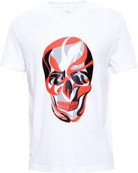 Alexander McQueen White Skull T-Shirt - Lyst