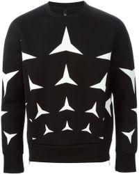 Neil Barrett Geometric Print Sweater - Lyst