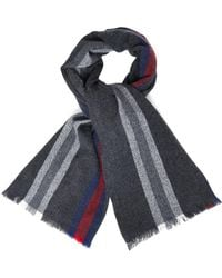 Gucci Striped Wool and Cashmereblend Scarf - Lyst