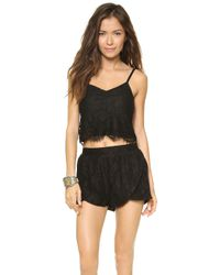 Mink Pink The Days You Feel Alive Camisole Black - Lyst