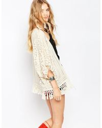 Greylin - Nikole Crochet Fringe Jacket - Lyst