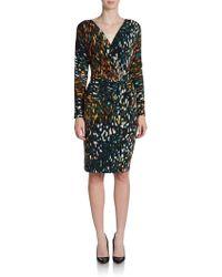 Vera Wang Regency Fauxwrap Dress - Lyst