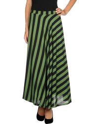 Cutie Green Long Skirt - Lyst