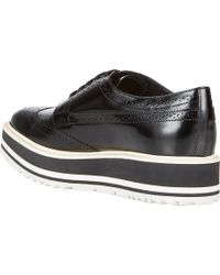 Prada Wingtip Brogue Platform Sneakers - Lyst