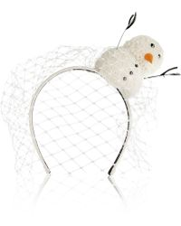 Piers Atkinson - Frosty Swarovksi Crystal-embellished Suede Headband - Lyst