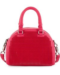 Christian Louboutin Panettone Small Spiked Satchel Bag pink - Lyst