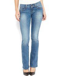 Guess Medium Wash Daredevil Bootcut Jeans - Lyst