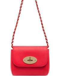 Mulberry Mini Lily Grained Leather Shoulder Bag - Lyst
