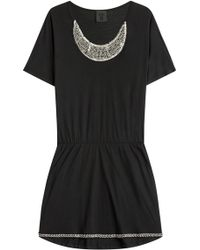 Anna Sui Jersey Dress With Embellishment black - Lyst