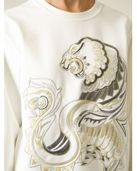 Roberto Cavalli Embroidered Sweatshirt - Lyst