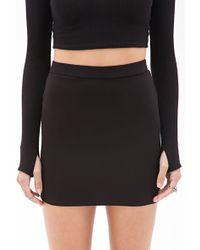 Forever 21 Stretch-Knit Mini Skirt - Lyst