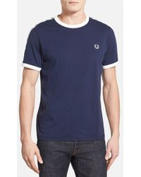 Fred Perry Taped Ringer T-Shirt - Lyst