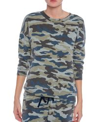 Pam & Gela Lisa Camo Print Sweatshirt - Lyst