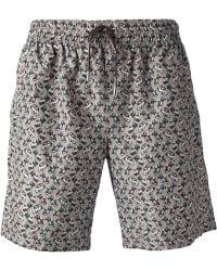 Dolce & Gabbana Car-Print Swim Shorts - Lyst