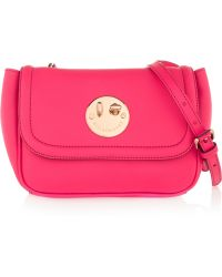 Hill & Friends Happy Mini Textured-leather Shoulder Bag - Multicolor