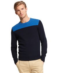 Tommy Hilfiger Color Block Sweater - Lyst