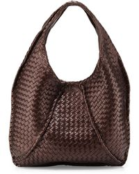 Bottega Veneta Cervo Large Metallic Hobo Bag - Lyst