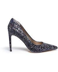 Sam Edelman 'Dea' Leather Trim Glitter Pumps blue - Lyst