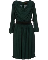 Vivienne Westwood Anglomania Green Kneelength Dress - Lyst