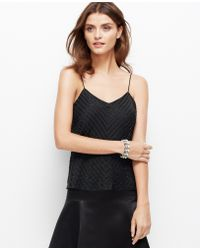 Ann Taylor Beaded Strappy Chiffon Top - Lyst