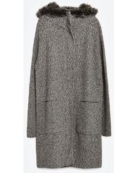 Zara | Coat With Hood | Lyst