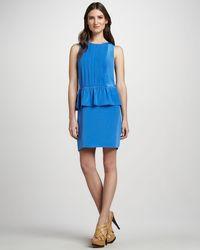 Tibi Sleeveless Peplum Dress - Lyst