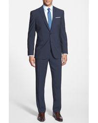 Ted Baker 'John' Trim Fit Stripe Wool Suit gray - Lyst