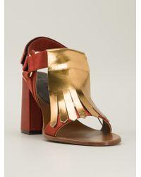 Marni Fringed Sandals - Lyst