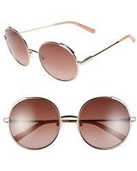 Chloé - 'nerine' 56mm Round Sunglasses - Lyst