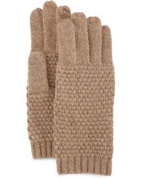 Portolano | Cashmere Popcorn-knit Gloves | Lyst