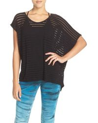 Hard Tail - Perforated Jersey Tee - Lyst