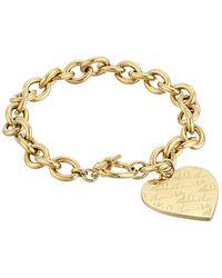 Michael Kors Mk Logo Plaque Heart Bracelet - Lyst