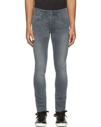 Nudie Jeans Black And Blue Love Wash Tape Ted Jeans - Lyst