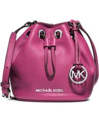 Michael by Michael Kors Jules Leather Drawstring Crossbody Bag - Lyst