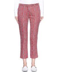Victoria Beckham | Ribbon Check Slim Fit Pants | Lyst