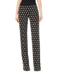 Michael Kors - Gem-embroidered Paisley Georgette Pajama Trousers - Lyst