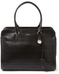 Alexander McQueen - Large Black Padlock Laser-cut Leather Bag - Lyst
