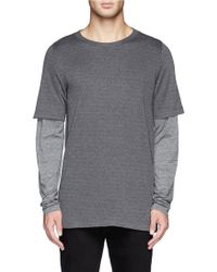 Theory - 'treck' Layered Sleeve T-shirt - Lyst