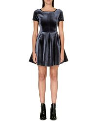 Maje Velvet Fit And Flare Dress - Lyst