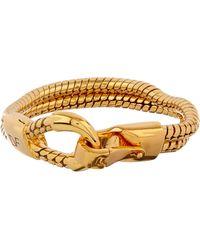 Diane von Furstenberg Snake-Chain Gold-Plated Bracelet - Metallic