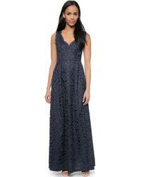 Shoshanna Sierra Lace Gown - Blue - Lyst