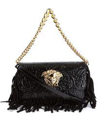 Versace Medusa Fringed Shoulder Bag - Lyst