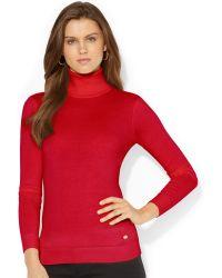 Lauren by Ralph Lauren Turtleneck Sweater - Lyst