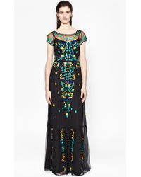 French Connection Seychelles Embroidered Maxi Dress multicolor - Lyst