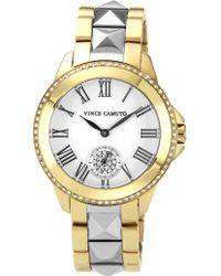 Vince Camuto - Women'S Two-Tone Stainless Steel Bracelet 35Mm Vc-5049Svtt - Lyst