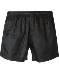 Gucci Black Swim Shorts - Lyst